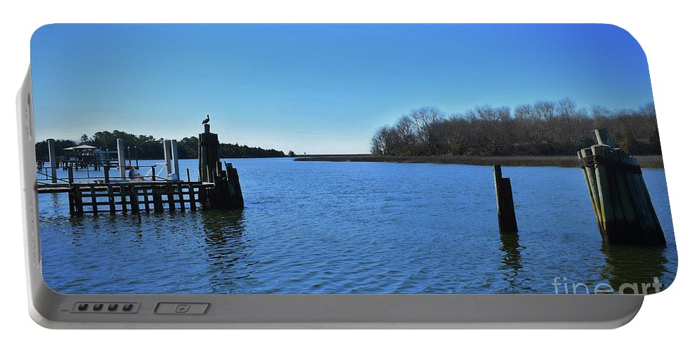 Maritime Portable Battery Charger featuring the photograph Mcclellanville, Sc by Skip Willits