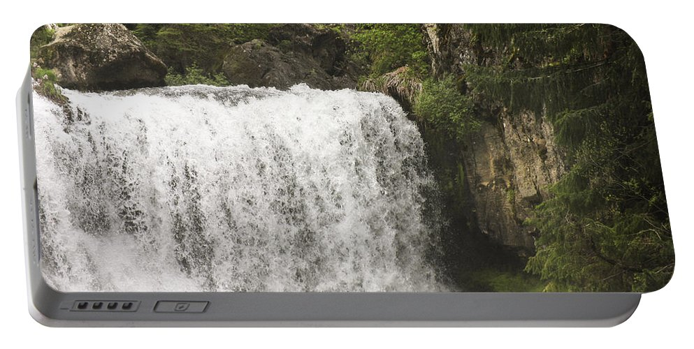 Waterfalls Portable Battery Charger featuring the photograph Mccloud Upper Falls by Karen W Meyer