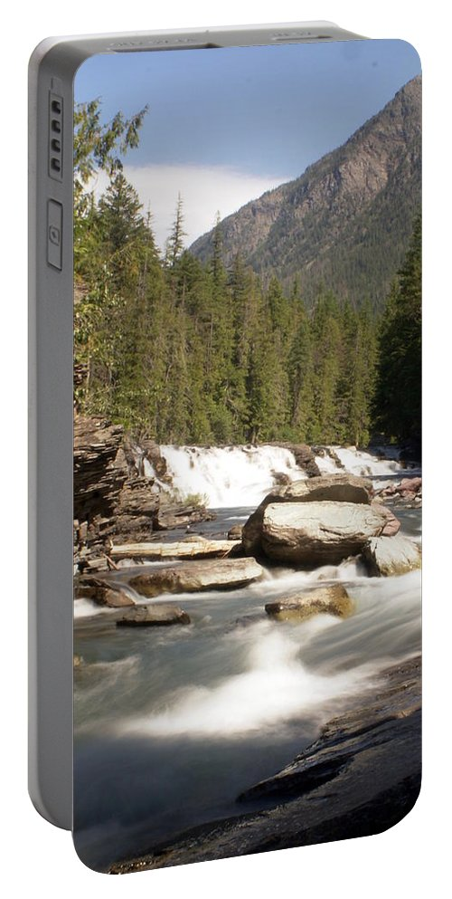 Stream Portable Battery Charger featuring the photograph Mcdonald Creek by Marty Koch