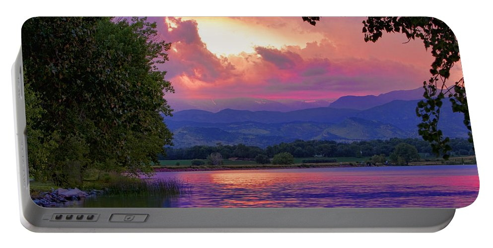 Sunsets Portable Battery Charger featuring the photograph Mcintosh Lake Sunset by James BO Insogna