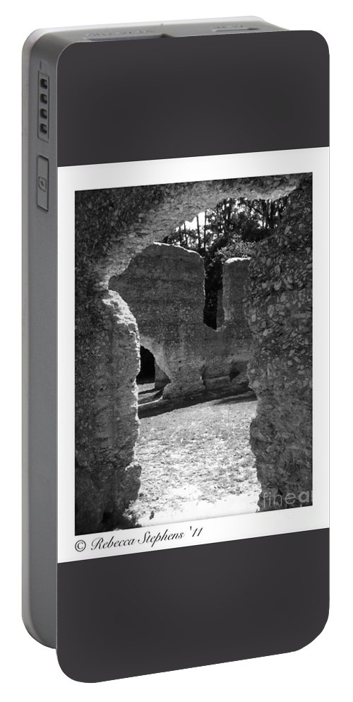 Tabby Portable Battery Charger featuring the photograph Mcintosh Sugar Mill Tabby Ruins by Rebecca Stephens