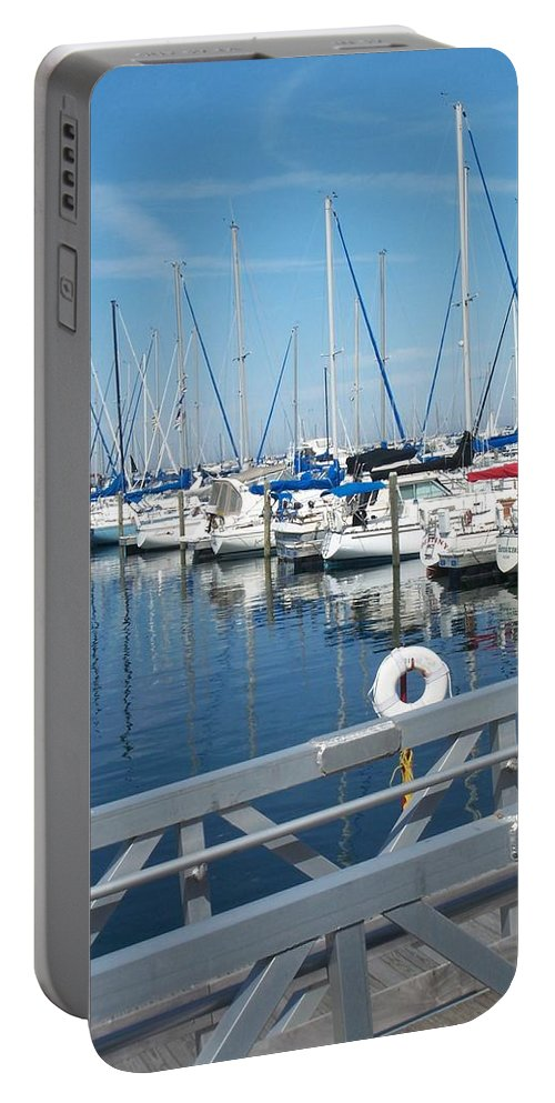 Mckinley Marina Portable Battery Charger featuring the photograph Mckinley Marina 5 by Anita Burgermeister