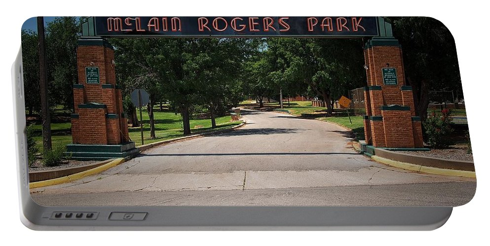 Park Portable Battery Charger featuring the photograph Mclain Rogers Park by Buck Buchanan
