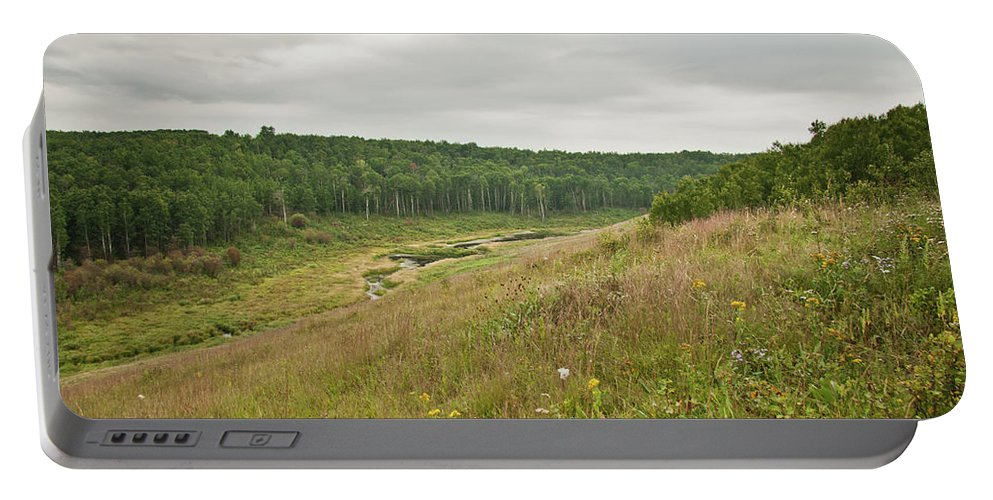 Nature Portable Battery Charger featuring the photograph Meadow Green by Deanna Paull