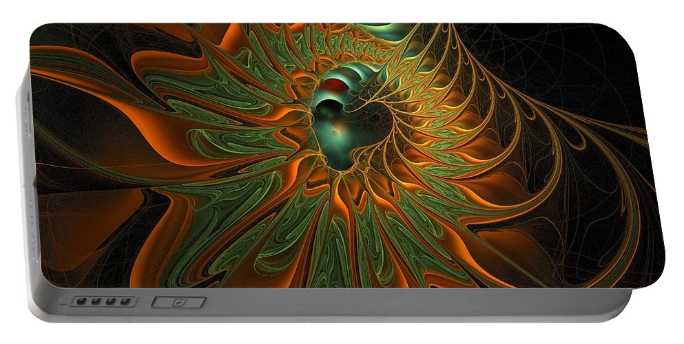 Digital Art Portable Battery Charger featuring the digital art Meandering by Amanda Moore