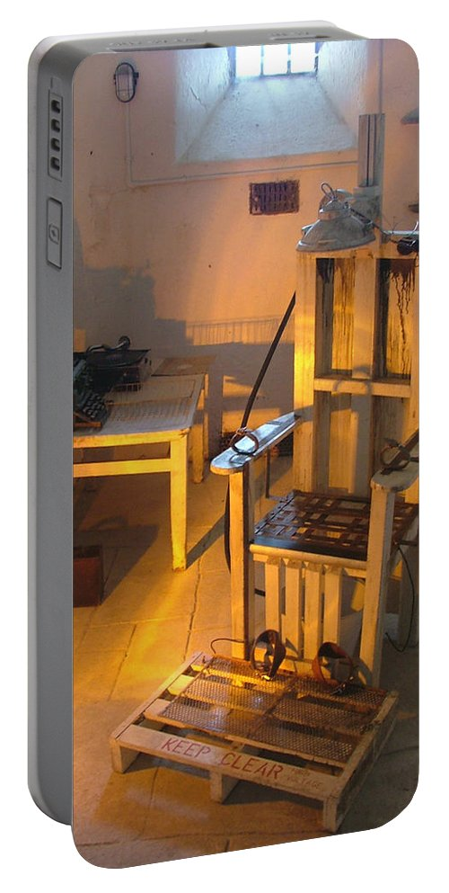 Halloween Portable Battery Charger featuring the photograph Medical Room by Heather Lennox
