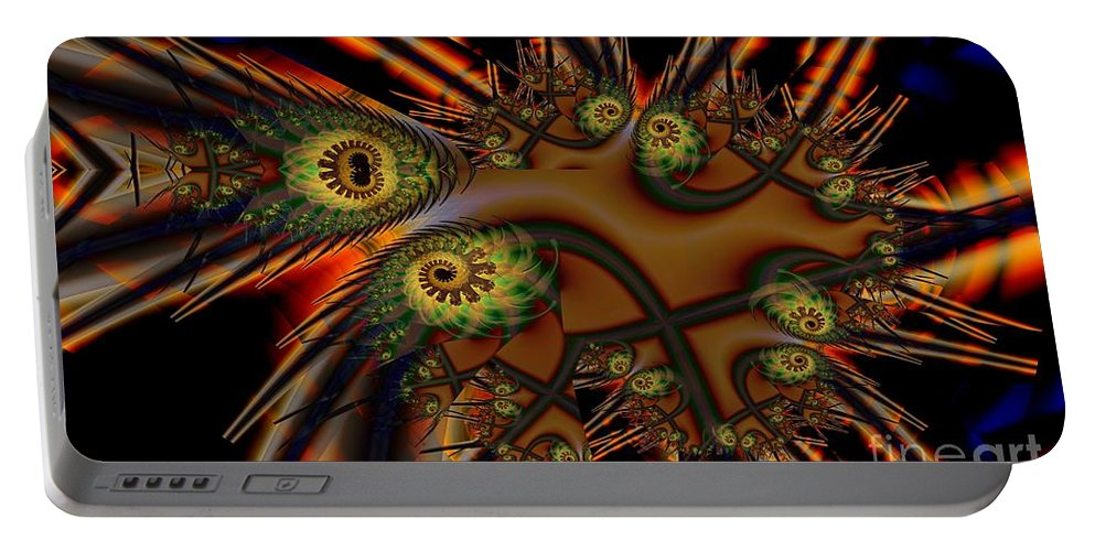 Medicine Portable Battery Charger featuring the digital art Medicine Paint by Ron Bissett