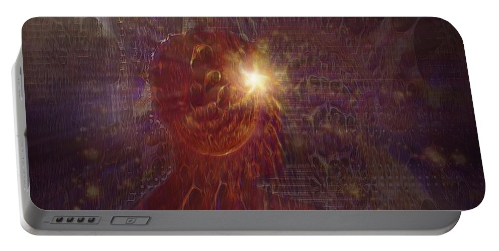 Digital Portable Battery Charger featuring the digital art Meditation by ProstkaLutz