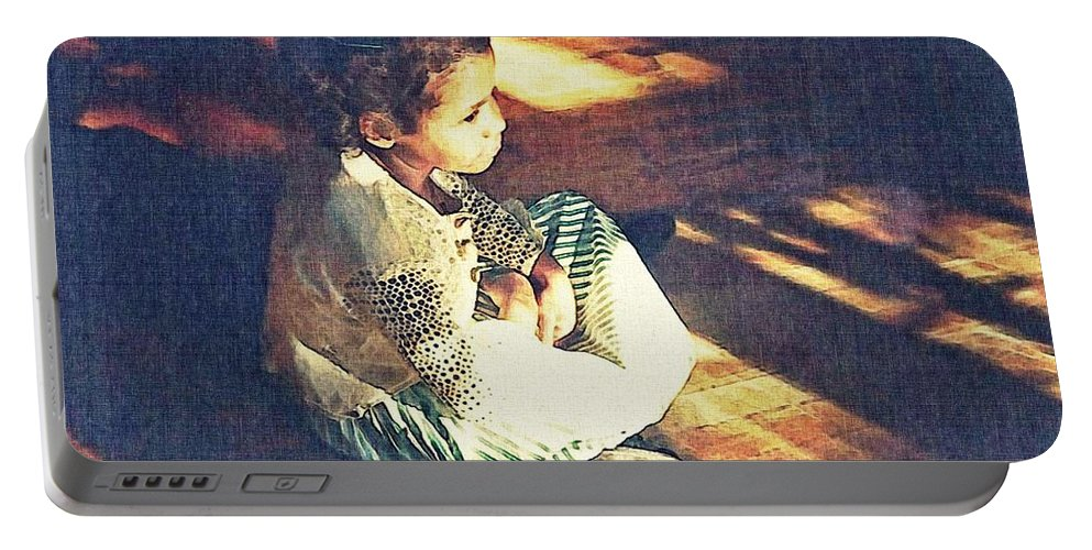 Girl Portable Battery Charger featuring the photograph Meditation by Sarah Loft