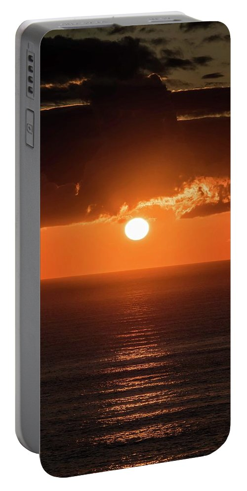 Sunrise Portable Battery Charger featuring the photograph Mediterranean Sunrise by Larkin's Balcony Photography