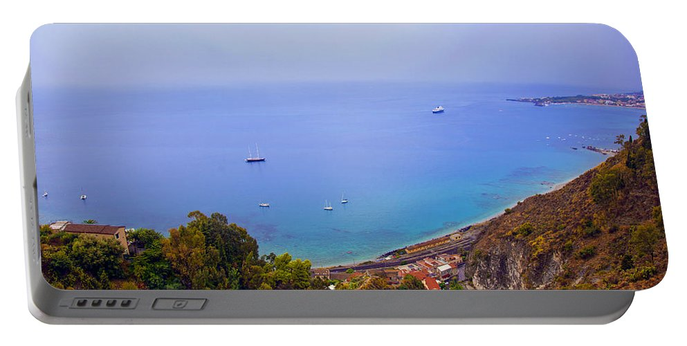 Mediterranean Portable Battery Charger featuring the photograph Mediterranean View by Madeline Ellis
