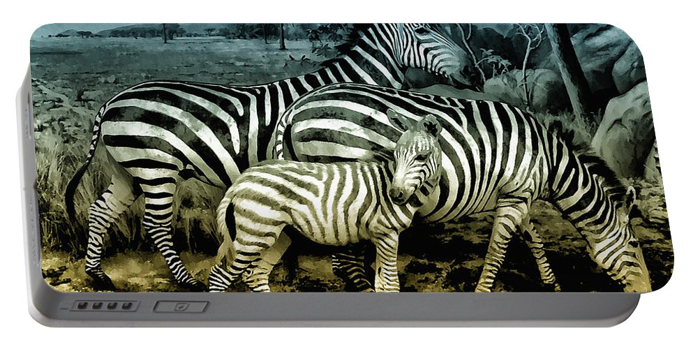 Zebra Portable Battery Charger featuring the photograph Meet The Zebras by Bill Cannon