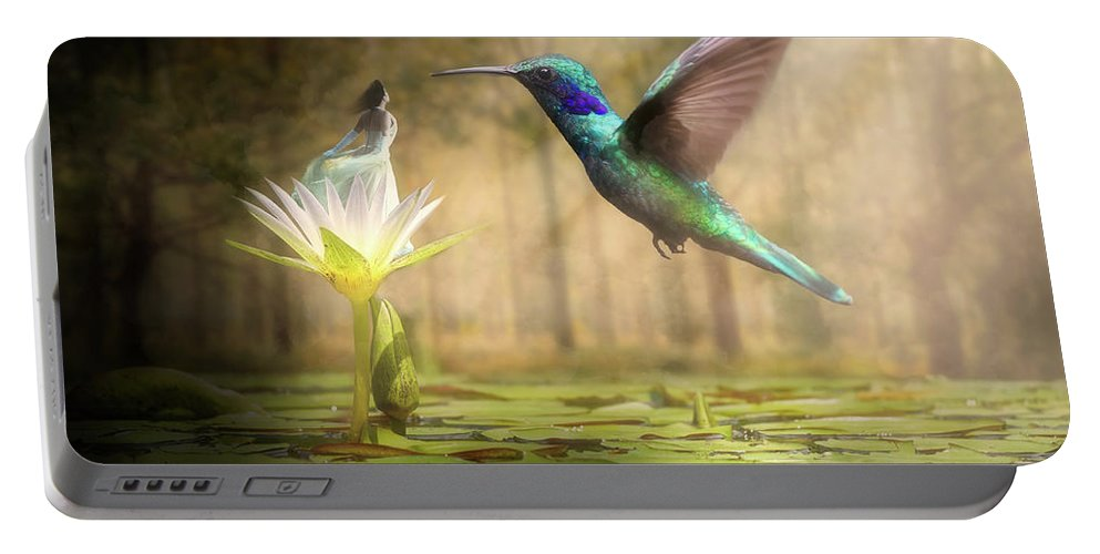 Wildlife Portable Battery Charger featuring the digital art Meeting Mother Nature by Nathan Wright
