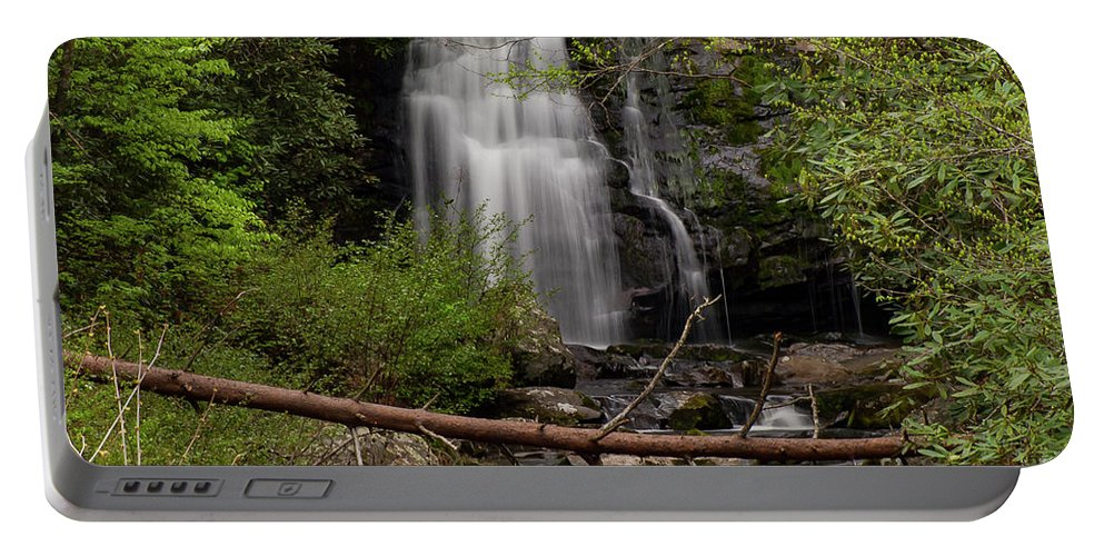 Meigs Falls Portable Battery Charger featuring the photograph Meigs Falls One by Bob Phillips