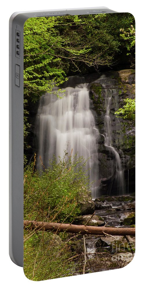 Meigs Falls Portable Battery Charger featuring the photograph Meigs Falls Two by Bob Phillips