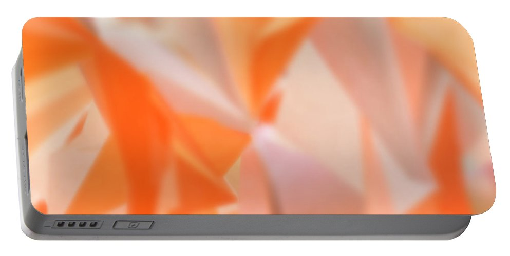 Artwork Portable Battery Charger featuring the digital art Melon Flower Dance by Michelle BarlondSmith