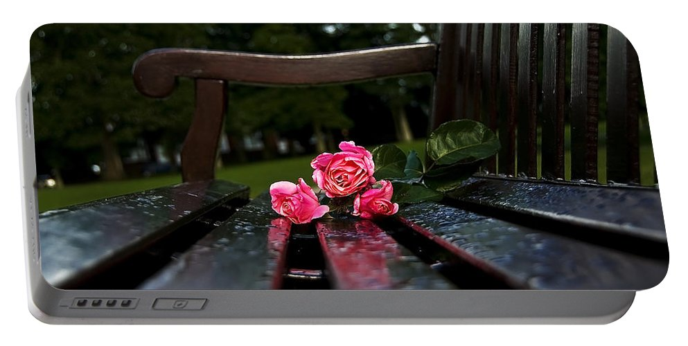 Bench Portable Battery Charger featuring the photograph Memmory... by Svetlana Sewell
