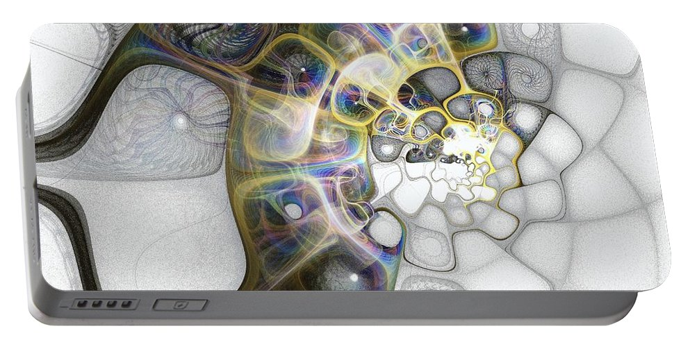 Digital Art Portable Battery Charger featuring the digital art Memories II by Amanda Moore
