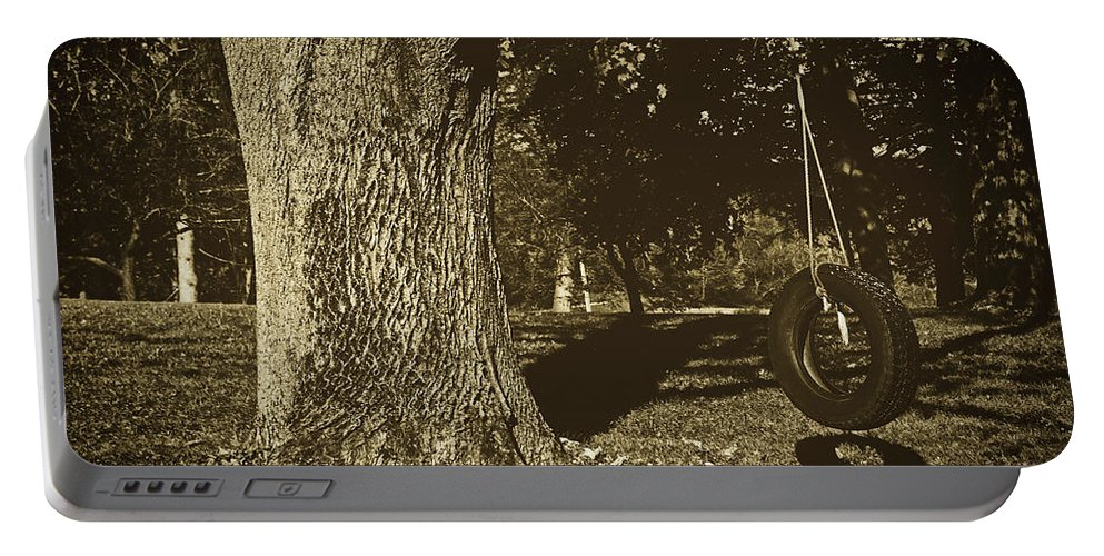 Tire Swing Portable Battery Charger featuring the photograph Memories by Library Of Congress