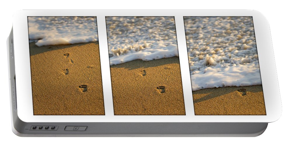 Beach Portable Battery Charger featuring the photograph Memories Washed Away by Jill Reger