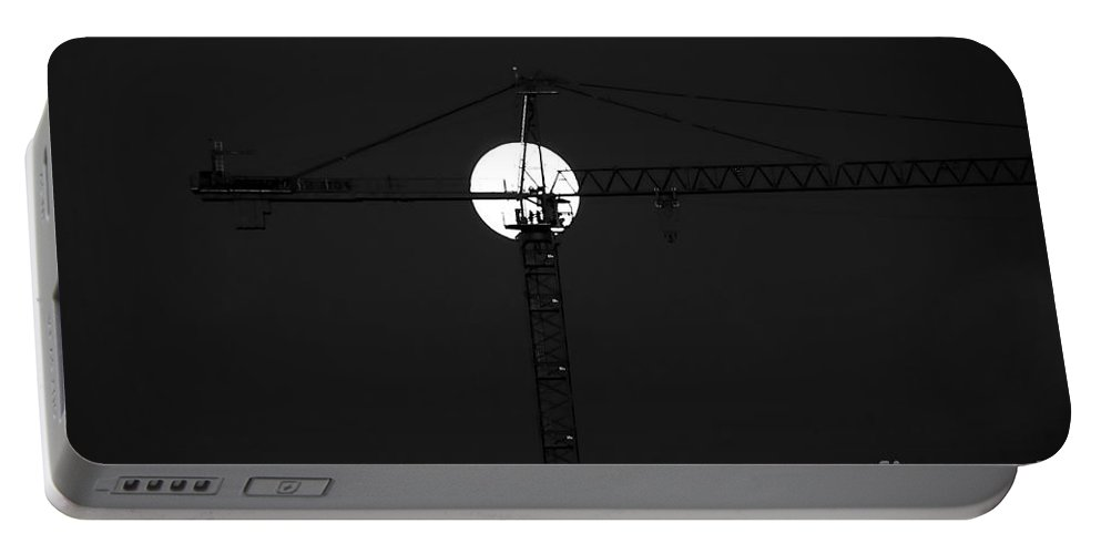 Moon Portable Battery Charger featuring the photograph Men In The Moon by David Lee Thompson