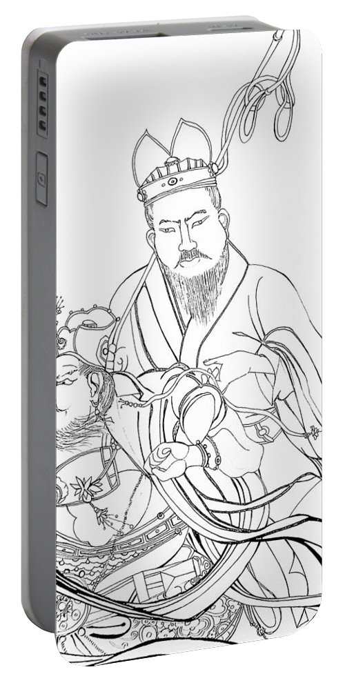Drawing Portable Battery Charger featuring the drawing Men Of The East by Michelle Calkins