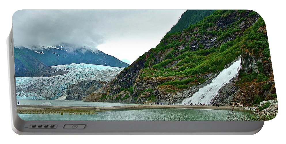 Falls Portable Battery Charger featuring the photograph Mendenhall by Diana Hatcher