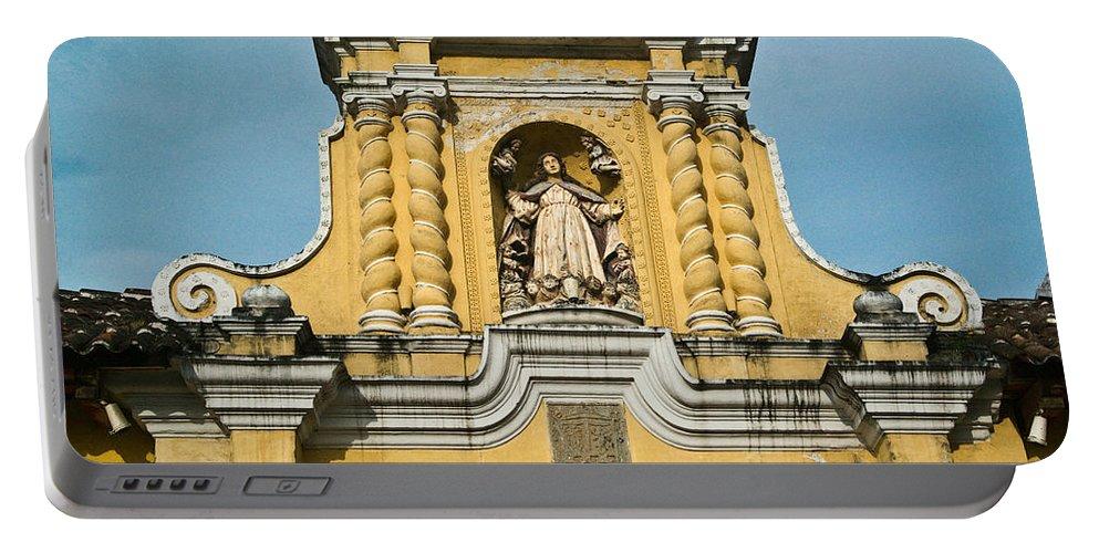 Merced Portable Battery Charger featuring the photograph Mercid Church Antigua Guatemala by Douglas Barnett