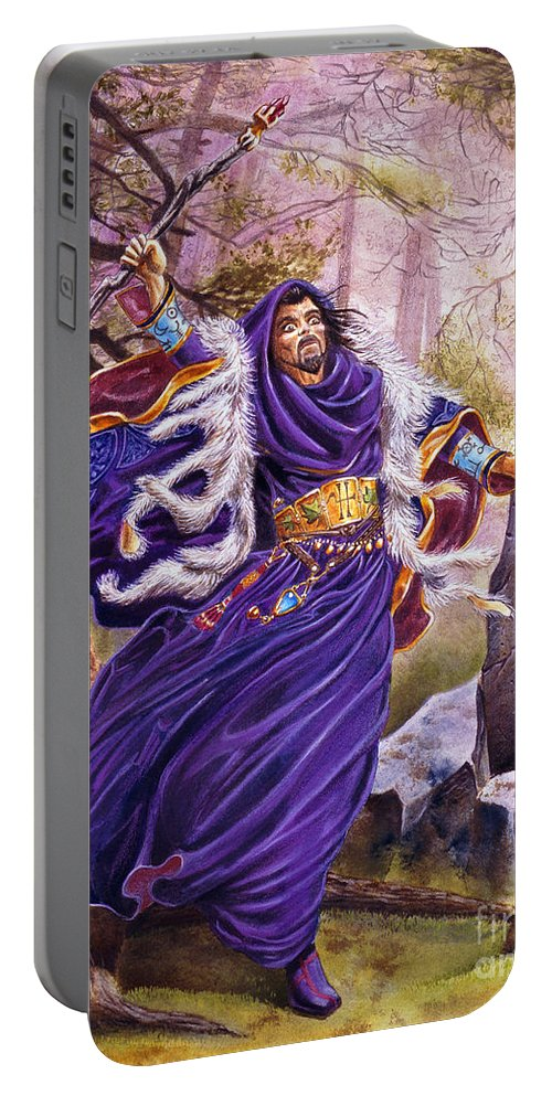 Artwork Portable Battery Charger featuring the painting Merlin by Melissa A Benson