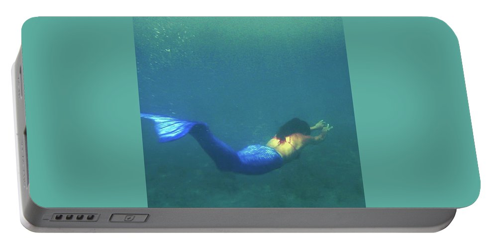 Mermaid Portable Battery Charger featuring the photograph Mermaid by Ydrogeios