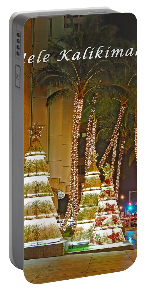 Merry Christmas Portable Battery Charger featuring the photograph Merry Christmas by Michael Peychich