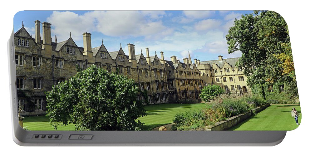 Merton College Gardens Portable Battery Charger featuring the photograph Merton Gardens by Tony Murtagh