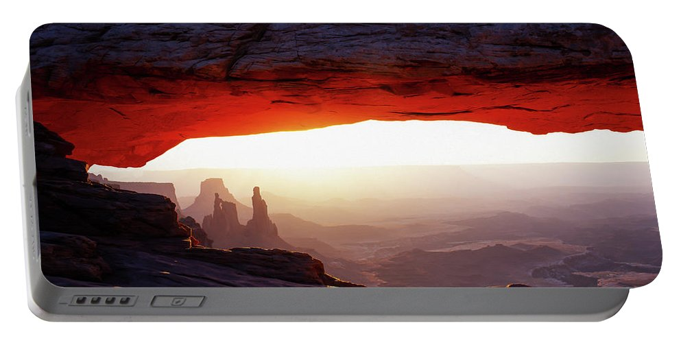 Canyonlands Portable Battery Charger featuring the photograph Mesa Arch Sunrise 4 by Tracy Knauer