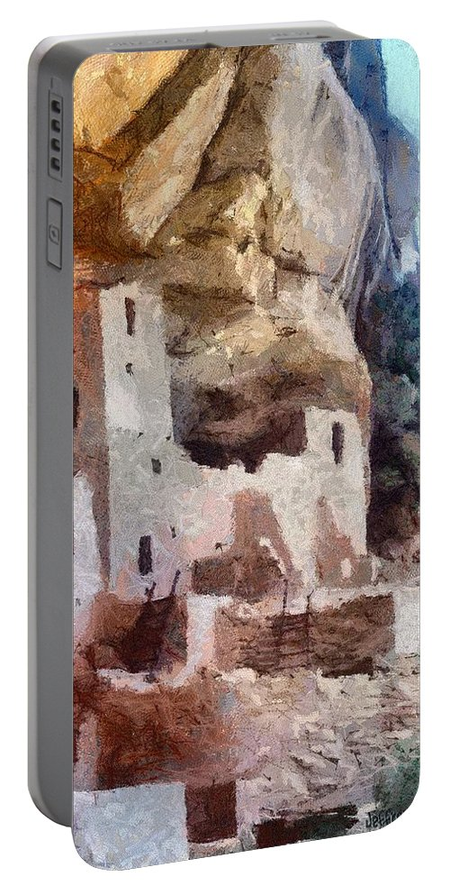 American Southwest Portable Battery Charger featuring the painting Mesa Verde by Jeffrey Kolker