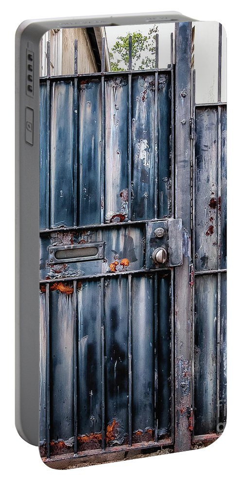 Gates Portable Battery Charger featuring the photograph Metal Gates by Kathleen K Parker