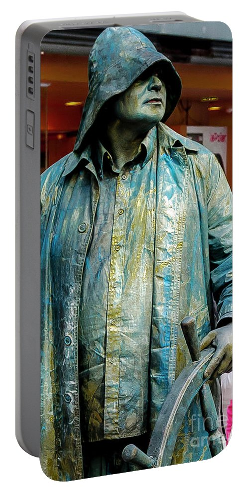 Chile Portable Battery Charger featuring the photograph Metal Sailor by Julian Bowdern