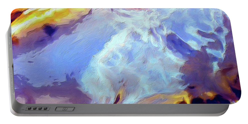 Abstract Portable Battery Charger featuring the painting Metamorphosis by Dominic Piperata