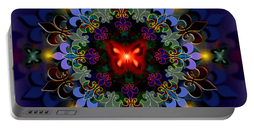 Spiritual Portable Battery Charger featuring the digital art Metamorphosis Dream II by Stephen Lucas