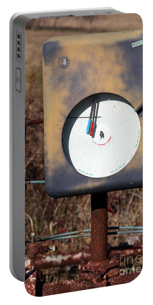 Meter Portable Battery Charger featuring the photograph Meter by Amanda Barcon