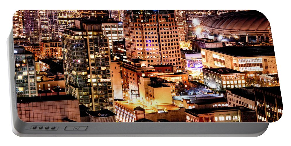 Vancouver Portable Battery Charger featuring the photograph Metropolis Vancouver Mdccxv by Amyn Nasser