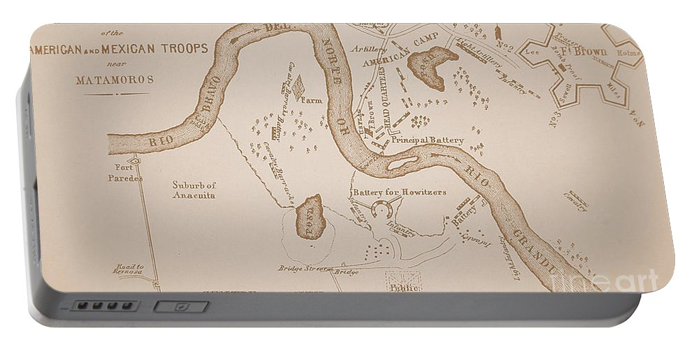 Mexican American War Map Of Us Troops Near Rio Grande And Matamoros - Rio-grande-on-us-map