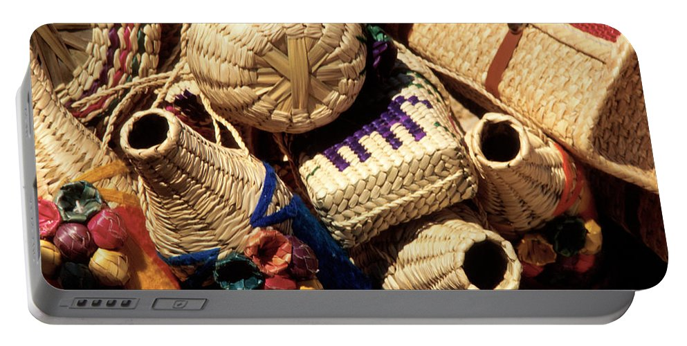 Mexico Portable Battery Charger featuring the photograph Mexican Baskets by Jerry McElroy