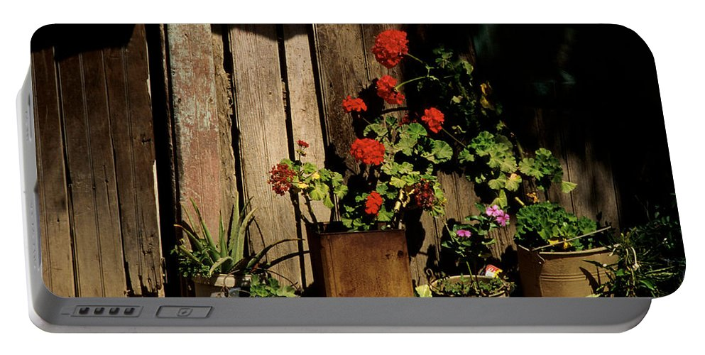 Flowers Portable Battery Charger featuring the photograph Mexican Geraniums by Jerry McElroy