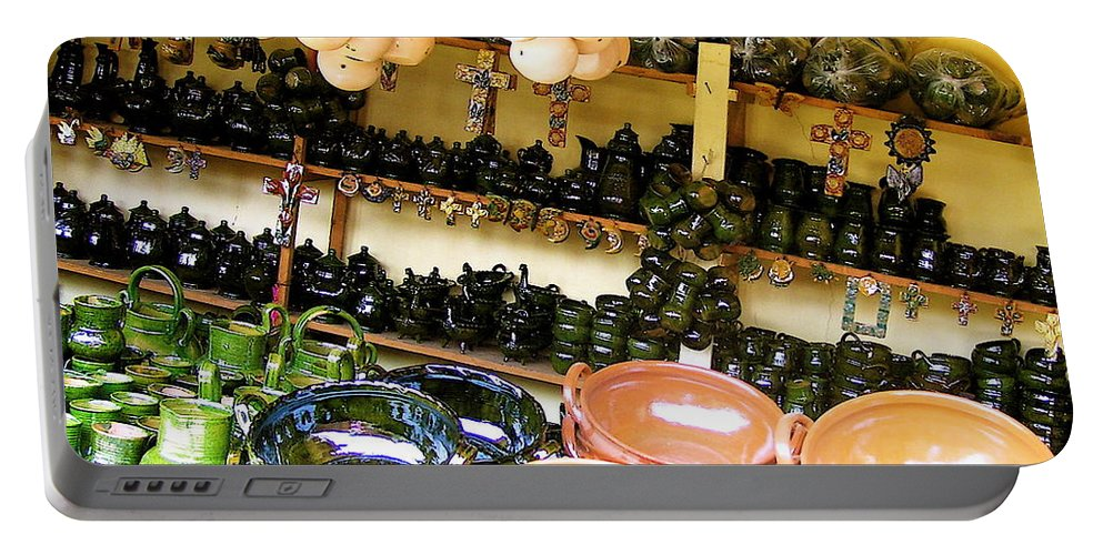 Mexican Portable Battery Charger featuring the photograph Mexican Pottery by Michael Peychich