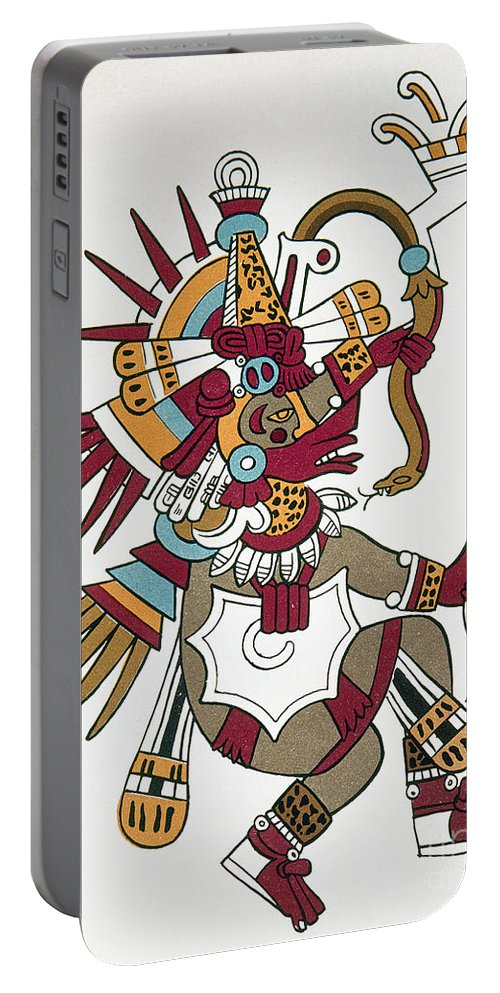 1500 Portable Battery Charger featuring the photograph Mexico: Quetzalcoatl by Granger