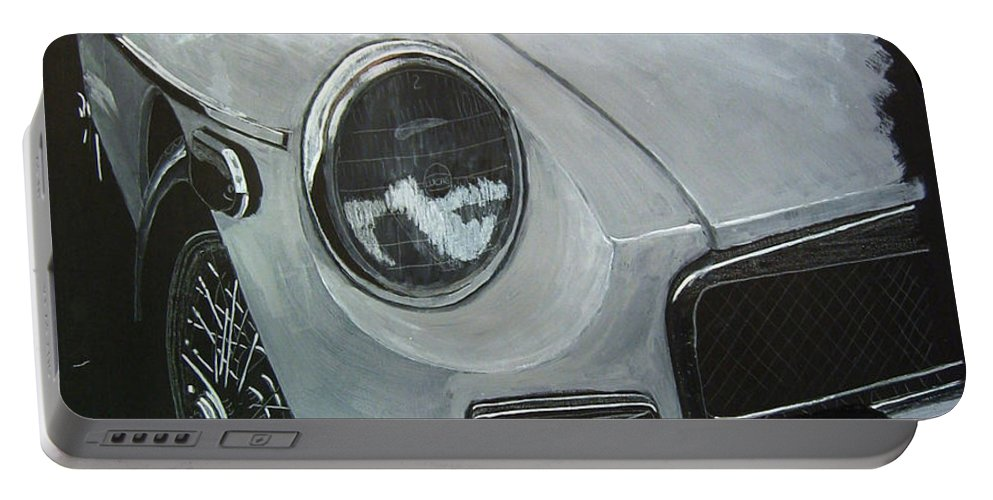 Mgb Portable Battery Charger featuring the painting MGB by Richard Le Page