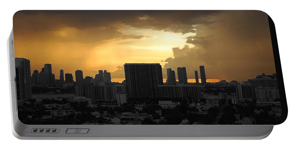 Landscape Portable Battery Charger featuring the photograph Miami by Joseph Mari