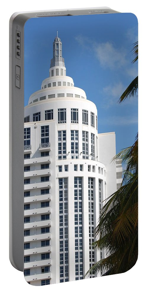 Architecture Portable Battery Charger featuring the photograph Miami S Capitol Building by Rob Hans