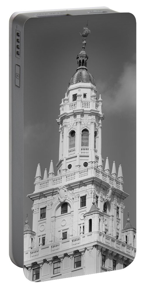 Architecture Portable Battery Charger featuring the photograph Miami Tower by Rob Hans