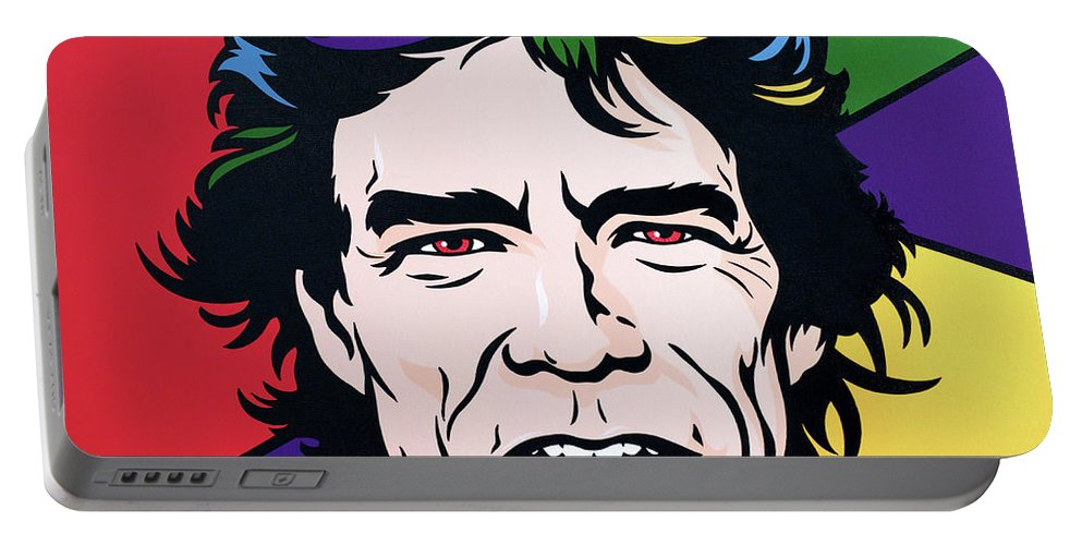 Pop Art Portable Battery Charger featuring the painting Mick Jagger by James Lee